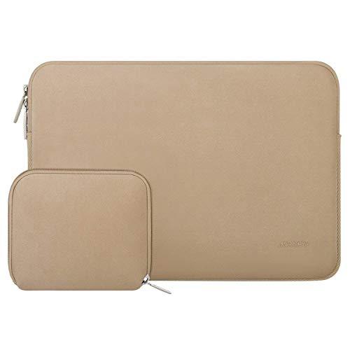 MOSISO Laptop Sleeve Kompatibel mit 13-13,3 Zoll MacBook Pro, MacBook Air, Notebook Computer, Wasserabweisend Neopren Tasche mit Klein Fall, Aprikose