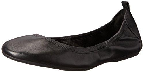 Cole Haan Women's Jenni II Ballet Flat, Black Leather, 7 B US