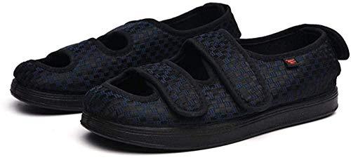 B/H Calzado OrtopéDico Ajustable para Artritis,Zapatos de Tela con Velcro Ajustable, Zapatos deformados con Pulgares-Azul Marino_41,Zapatillas DiabéTicas Ajustables