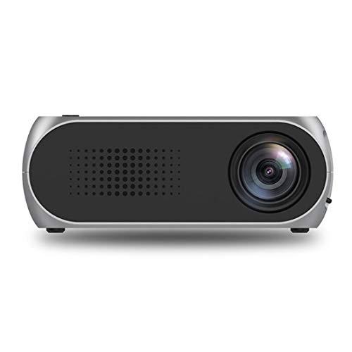 XRQ Portátil de Cine en casa YG320 proyector 320 * 240 Mini LED proyector de Cine en casa, Soporte HDMI y AV y SD y USB (Negro) (Color : Silver)