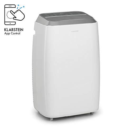 KLARSTEIN Iceblock Prosmart 9 – Aire Acondicionado portátil, 3 en 1: enfriamiento, ventilación y deshumidificación, Clase A, 9.000 BTU / 2,6kW, Sala de 26 hasta 44 m², caudal de 300 m³/h, Blanco