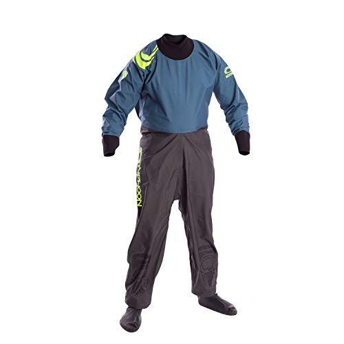 Typhoon Kinder Jugend Junior Rookie Drysuit Dry Suit NeoprenWetsuit Seals Grey Teal. Atmungsaktiv - Bequeme innere Zahnspange