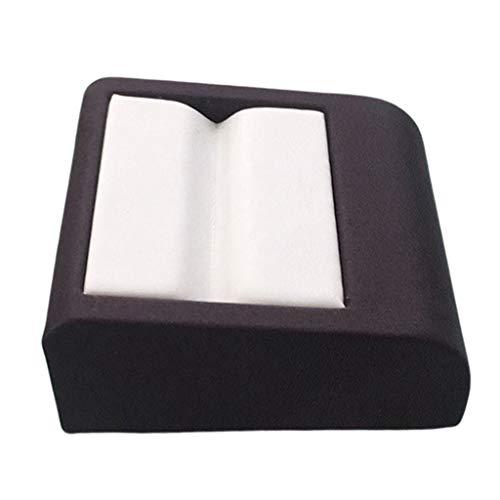 yotijar Joyas de Madera Hechas a Mano con Piedras Preciosas, Esmeralda, Caja de Anillo.