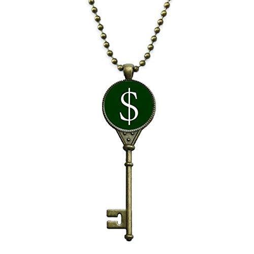 Símbolo de moneda dólar de Estados Unidos Llavero Collar...