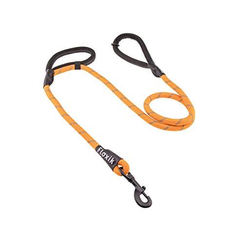 Floxik Tauleine für Hunde | orange Hundeleine aus Kletterseilmaterial