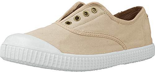 Zapatillas Victoria 06627 - Inglesa Lona Teñida Puntera hombre, color piedra, talla 42