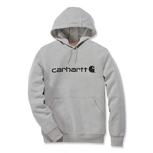 Carhartt Men's Force Delmont Signature Graphic Hooded Sweatshirt, Asphalt Heather, Large
