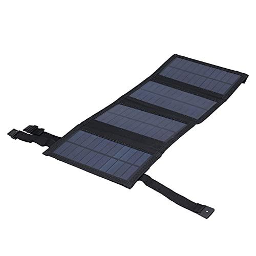 Panel solar USB de 20W, práctico de usar, resistente al agua, ligero, para la familia, para acampar(negro, Tipo de torre inclinada de Pisa)