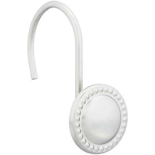Amazon Basics - Ganchos para cortinas de ducha, círculo de cuentas, níquel