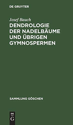 Dendrologie der Nadelbäume und übrigen Gymnospermen: Coniferophytina und Cycadophytina (Sammlung Göschen, Band 2603)