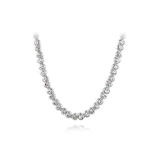 Nina Selles® Tennis-Collier Weißgold vergoldet mit Swarovski Elements, crystal-silber NS695