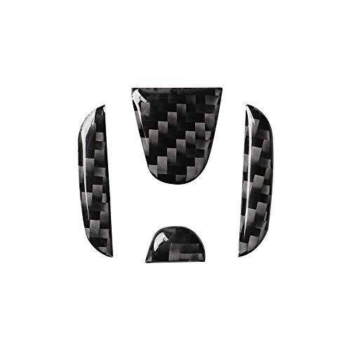 Alician Pegatina para volante de fibra de carbono interior para Honda Civic 2020 2019 2018 2017 2016 Accord 2019 2020 Trim negro