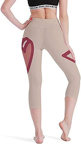 MODORSAN Love Lentes De Sol Señoras Siete Puntos Yoga Pantalones Medias Control del Vientre