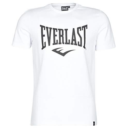 Everlast Sports - Camiseta de Manga Corta para Hombre, Color Blanco, FR: L (Talla del Fabricante: L)