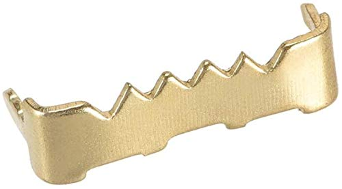 Dibujar garfio Frame Cuadro colgado No Nail Diente de Sierra de la Foto Perchas, 1 Pulgada Nailess Chapado en Zinc for Colgar Frame, 500 PC (Golden)