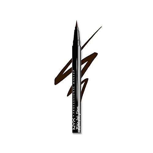 NYX PROFESSIONAL MAKEUP Epic Ink Liner, Waterproof Liquid Eyeliner - Brown, Vegan Formula