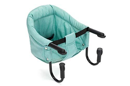 Fillikid Tischsitz | Faltbarer Babysitz | Stuhlsitz mit klappbarer Schraubfixierung | Boostersitz mit Anti-Rutsch-Klemmen und Tragetasche | Babysitz für dicke Tischplatten | Gepolsterter Tischstuhl