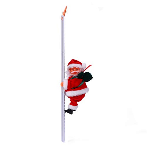 PRETYZOOM Santa Claus Climbing on Ladder for Christmas Tree Hanging Ornament for Party Home Decoration