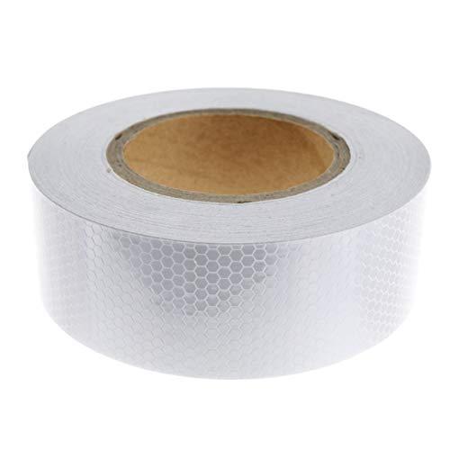 5cm x 25m Reflektorfolie Reflektorband Silber Selbstklebend Warnung KIT