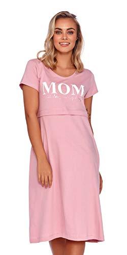 Doctor Nap Damen Umstandsnachthemd, Krankenhaus Stillnachthemd Nachthemd Geburt TCB.4200 Papaya Rose Gr. S