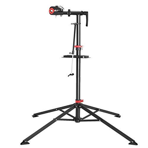 GLNG メンテナンススタンド ロードバイク スタンド 自転車スタンド バイク スタンド 高さ調節 角度調節 安定感抜群 ディスプレイスタンド 収納便利 簡単設置 ワークスタンド/作業用スタンド 工具トレー付