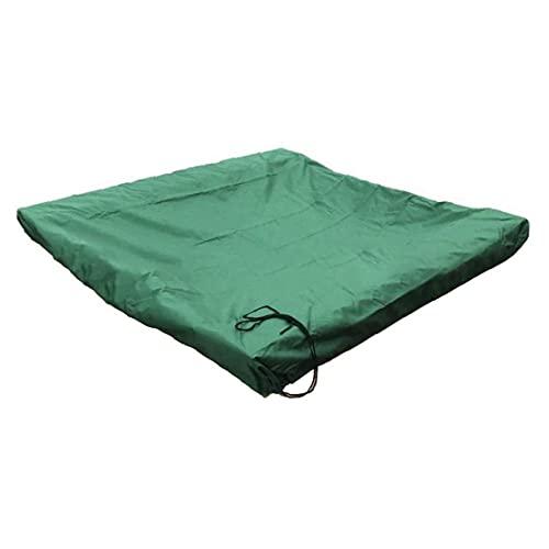 TOPofly Sandpit överdrag, vattentätt dammtätt UV-skydd poollakan sandlåda baldakin för simbassäng grön 120 x 120 cm