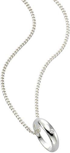 Zeeme for Kids Kinder-Taufring mit Kette in 925/- Sterling Silber mit Diamant 0,01ct 36-38cm 500243753-1