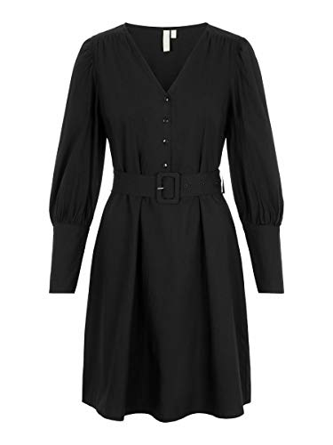 PIECES Female Kleid Taillengürtel LBlack