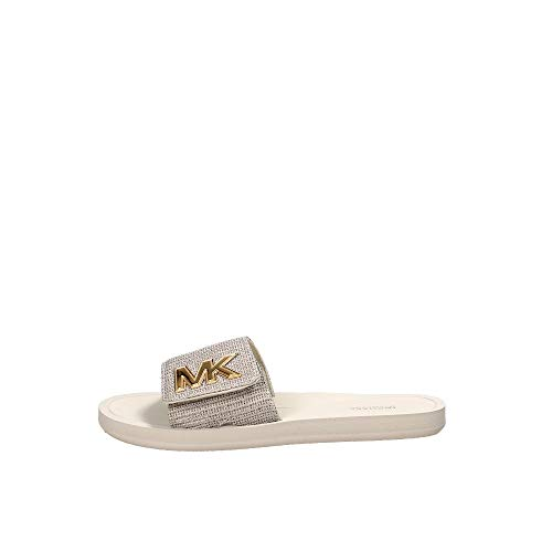 Michael Kors Michael by MK Slide Ecru and Gold Mesh Slider Ecru 38.5 EU