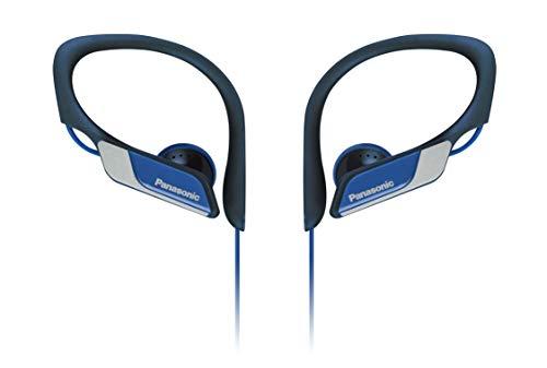 Panasonic RP-HS34E-A Clip Sportohrhörer (beständiges Material, größenverstellbarer Clip) blau