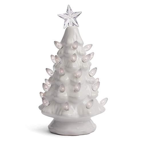 Ceramic Christmas Tree - Tabletop Christmas Tree with Lights - (6.75' Small Green Christmas...