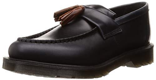 Dr. Martens Unisex Adrian Aqua Glide Tassel Leather Loafer Navy-Navy-6 Size 6