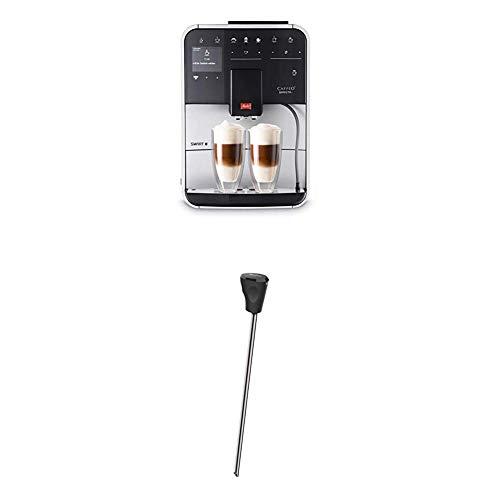 Melitta Caffeo Barista T Smart F831-101, Kaffeevollautomat, Smartphone-Steuerung mit Connect App, One Touch Funktion, Silber + Milchlanze für Kaffeevollautomaten, Edelstahl, Schwarz