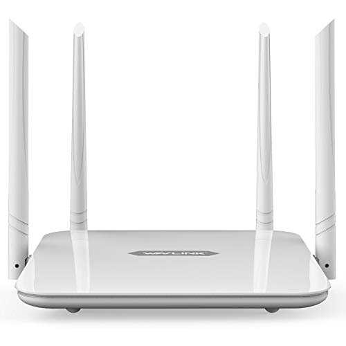 WAVLINK 1200Mbps WiFi Router High Power Wireless WiFi Home Gigabit Router Dual Band(5GHz+2.4GHz Smart Internet Router,High Speed WiFi Long Range Coverage for Gaming and Works/2 x 2 MIMO 5dBi Antennas