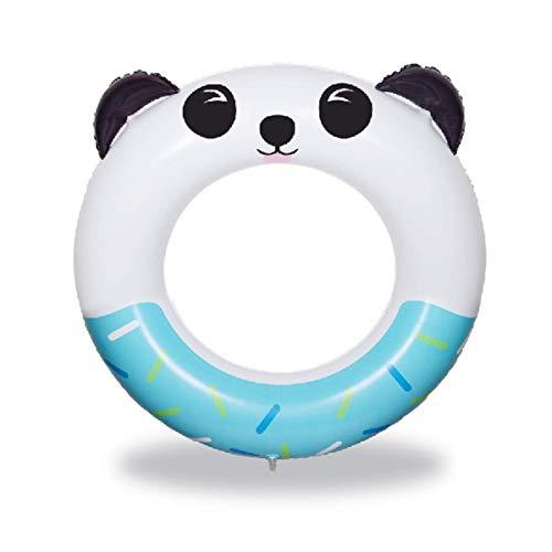 QUN FENG Schwimmring - Aufblasbares Schwimmbecken Spielzeug Panda Muster Durchmesser ca. 70cm Geeignet für über 4 Jahre (Blau)