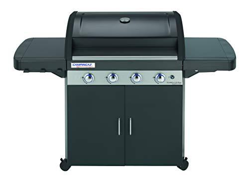 Campingaz Barbecue à gaz Class 4 LD Plus, 4 brûleurs, Puissance 12.8kW,Système de nettoyage facile InstaClean, grille et plancha en fonte double émaillage, 2 tablettes latérales
