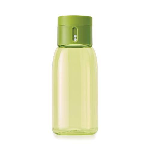 Joseph Joseph Dot hidratación - Botella de agua de seguimiento, 400ml, color verde, 1 unidad