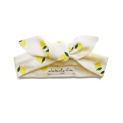 Organic Knotted Adjustable Headbands for Baby Girls - Lemon Slice