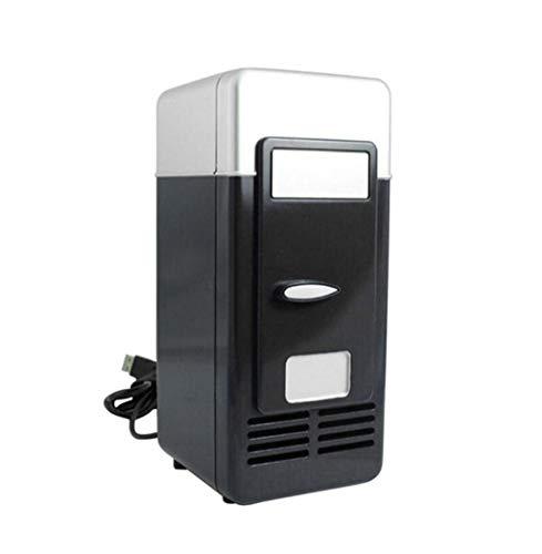 Koelkast - Multifunctioneel 5V Car Koelkast Portable Diepvries USB Dual Gebruik Cooler Warmer koelkast elektrisch 10W for Car huis Picnic (Color : Black)