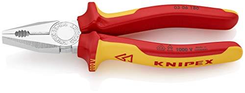 KNIPEX 03 06 180 Alicate universal cromado