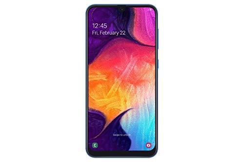 Samsung Galaxy A50 Smartphone (16,3 cm (6,4 pollici), 128 GB di memoria interna, 4 GB di RAM, blu) – Versione tedesca