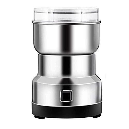 Multifunction Smash Machine Grinder, Electric Milling Machine Grinder for Mill Cereal Spice Beans Seasonings Herb Pulverizer Superfine Powder Machine (Silver)