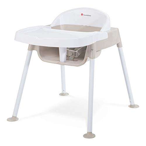Review Of Foundations 2020 Foundations Secure Sitter Feeding Chair 13 Seat Height, White/Tan