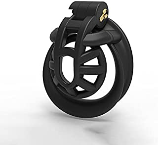 SeLgurFos Positive/Negative Male Chastity Device Super Light Double-Arc Cuff Penis Holy Ring Cobra Cock Cage sex Toys for ...