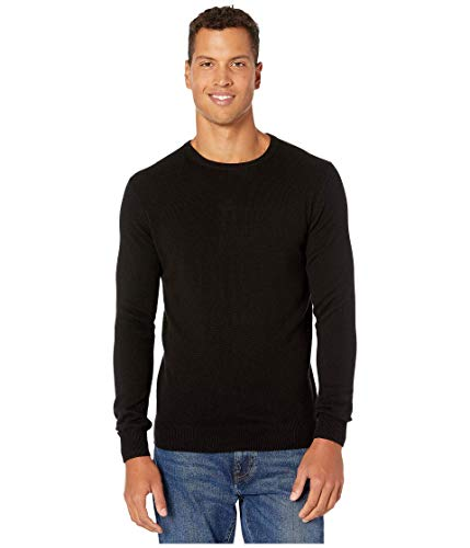 J.Crew Everyday Cashmere Crewneck Sweater in Solid Black LG