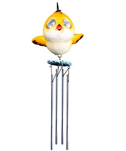 Bo-Toys Solar Powered Bird Wind Chime Outdoor LED Garden Light Decor