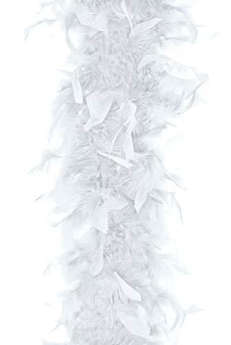 Unbekannt Federboa Karneval Kostüm Fasching Boa Federn 180cm, Farbe: Weiß