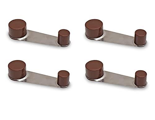 [x4] Tope de Puerta Retenedor - Giratorio - Adhesivo -