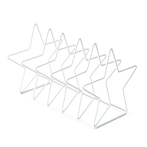 Msltely Sujetalibros Nordic Simple Book Prop Soporte de Libro Soporte de Escritorio Almacenamiento Rack Titular de estantería Decoración del Hogar (Color : W A)