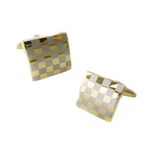 Sharplace 2 Stück Vintage Klassische Plaid Manschettenknöpfe Anzugknopf Jahrestag Geburtstag Geschenk